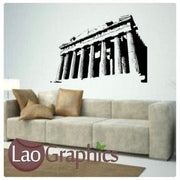 Athens Temple World Landmark Wall Stickers Home Decor Art Decals-LaoGraphics