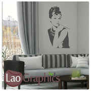 Audrey Hepburn Wall Stickers Home Decor Art Decals Large UK Transfers-LaoGraphics