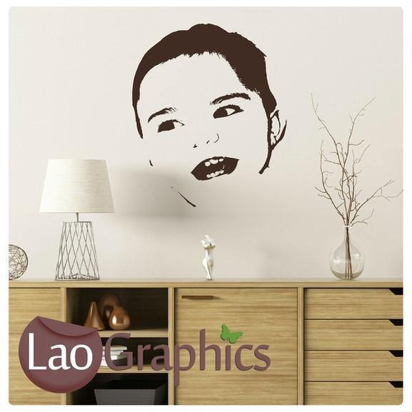 Baby Face Childs Wall Sticker Home Decor Art Decals Large UK Transfers-LaoGraphics