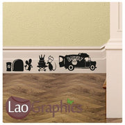 Bakery Mouse Set Mouse Door Home Decor Skirting Wall Stickers Art Decals-LaoGraphics