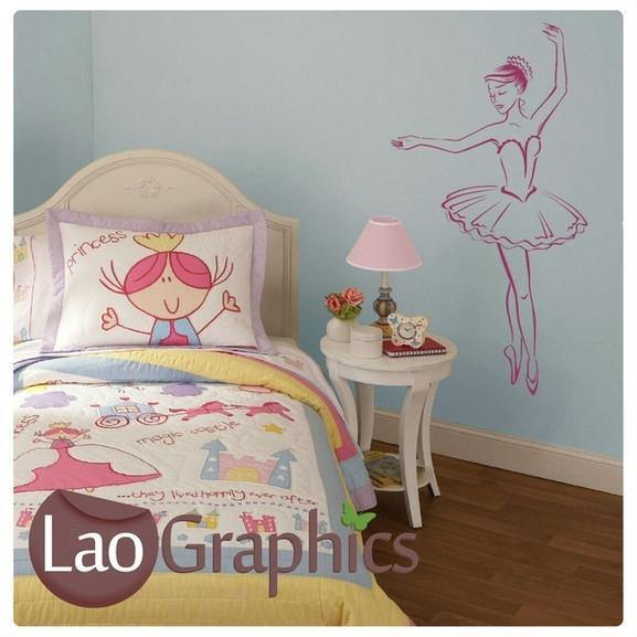 Ballerina Dancing Girls Dance Wall Stickers Home Decor Art Decals  UK LaoGraphics