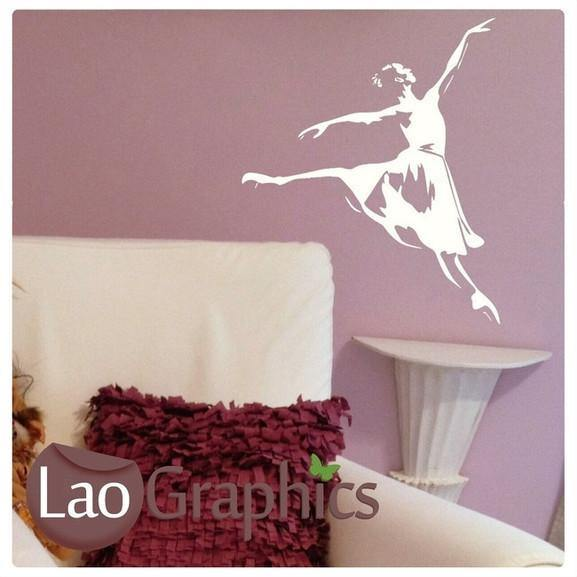 Ballet Dancer Girls Dance Wall Stickers Home Decor Large Art Decals UK-LaoGraphics