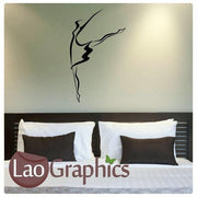 Ballet Dancing School Girls Dance Wall Stickers Home Decor Art Decals-LaoGraphics