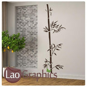 Bamboo Branch Decorative Nature Wall Stickers Home Decor Art Decals-LaoGraphics