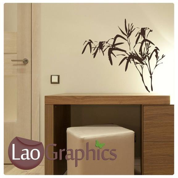Bamboo Plant Bamboo Shoots & Leaves Wall Stickers Home Decor Art Decals-LaoGraphics
