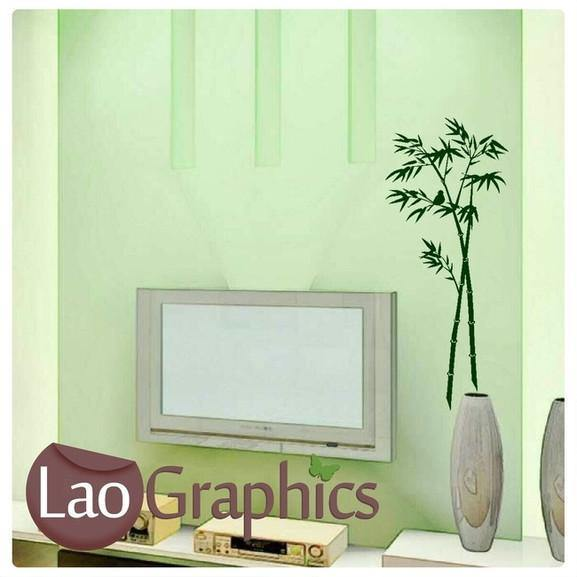 Bamboo Tree Shoots Leaves Wall Sticker Home Decor Art Decal