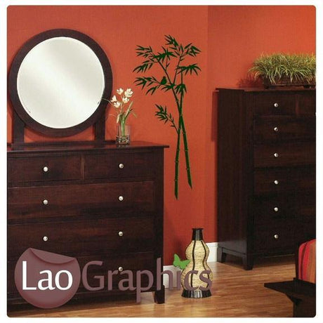 Bamboo Tree Shoots & Leaves Wall Stickers Home Decor Art Decals-LaoGraphics