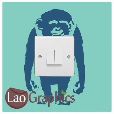 Banksy Monkey Light Switch Wall Stickers Home Decor Art Decals-LaoGraphics