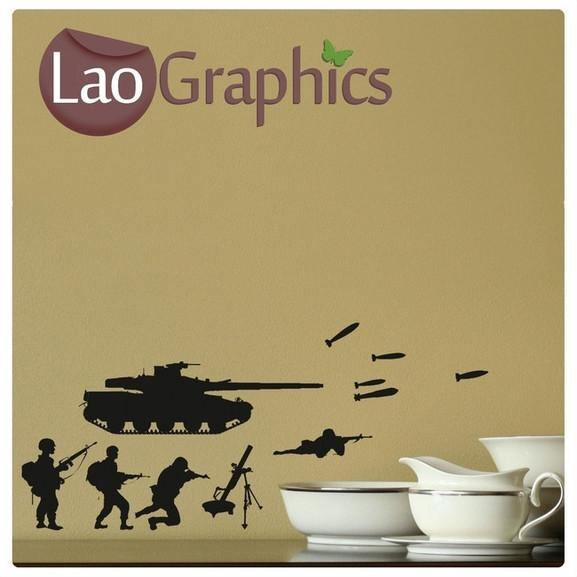 Bargain Army Men Discount & Cheap Wall Stickers Home Decor Art Decals-LaoGraphics