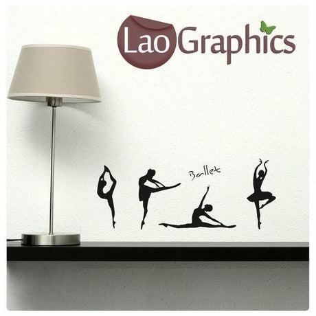 Bargain Ballerinas Balet Discount & Cheap Wall Stickers Home Decor Art Decals-LaoGraphics