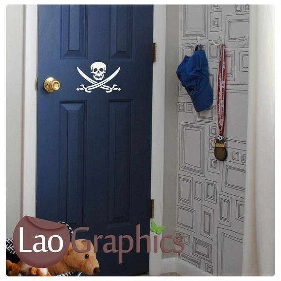 Bargain Crossbones Discount & Cheap Wall Stickers Home Decor Art Decals-LaoGraphics