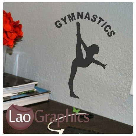 Bargain Gymnastics Discount & Cheap Wall Stickers Home Decor Art Decals-LaoGraphics