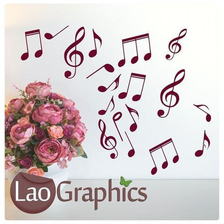Bargain Music Notes Discount & Cheap Wall Stickers Home Decor Art Decals-LaoGraphics