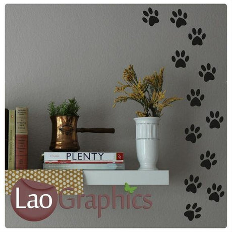 Bargain Paw Prints Discount & Cheap Wall Stickers Home Decor Art Decals-LaoGraphics