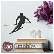 Bargain Skier Winter Sports Wall Stickers Home Decor Art Decals-LaoGraphics