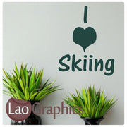 Bargain Skiing Quote Winter Sports Wall Stickers Home Decor Art Decals-LaoGraphics