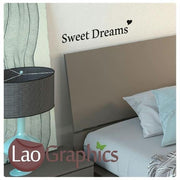 Bargain Sweet Dreams Vinyl Quote Wall Stickers Home Decor Art Decals-LaoGraphics