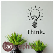 Bargain Think Bulb Quote Discount & Cheap Wall Stickers Home Decor Art Decals-LaoGraphics