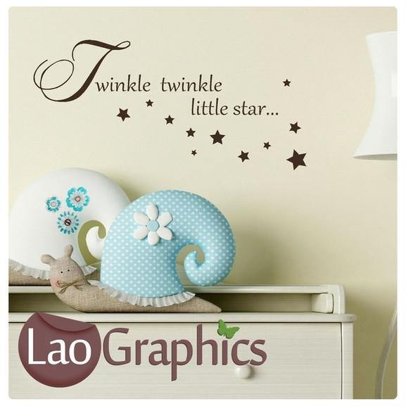 Bargain Twinkle Nursery Quote Wall Stickers Home Decor