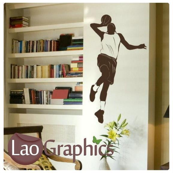 basketballer boys bedroom sports wall stickers home decor art decals