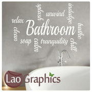 Bathroom Quote Wall Stickers Home Decor Large Vinyl Words Art Decals-LaoGraphics