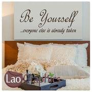 Be Yourself Inspirational Quote Wall Stickers Home Decor Art Decals UK-LaoGraphics