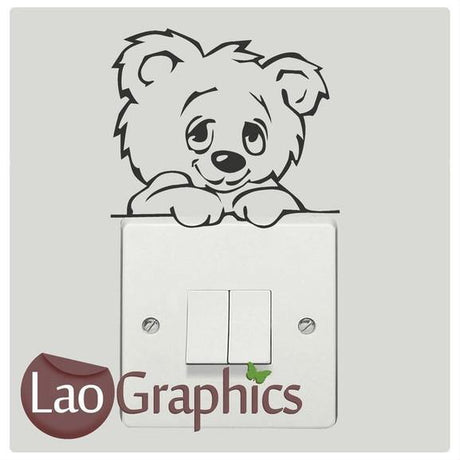 Bear #2 Light Switch Childrens Nursery Art Decals Home Decor Wall Stickers-LaoGraphics