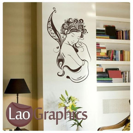 Beautiful Fairy Girls Bedroom Wall Stickers Home Decor Large Art Decal-LaoGraphics