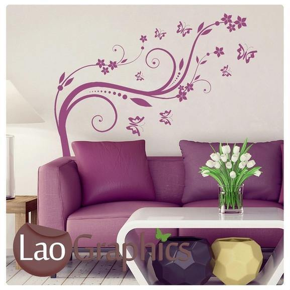 Beautiful Flower Modern Interior Wall Stickers Home Decor Art Decals-LaoGraphics