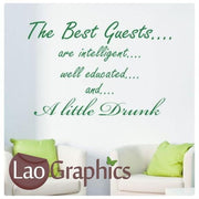 Best Guests Quote Dining Room Interior Wall Stickers Home Decor Art Decals-LaoGraphics