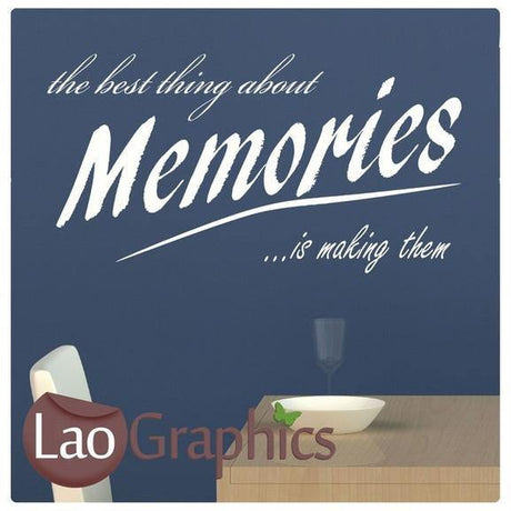 Best Thing About Memories Inspiring Quote Wall Stickers Home Decor Art-LaoGraphics