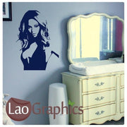 Beyonce Female Celebrity Wall Stickers Home Decor Famous People Art UK-LaoGraphics