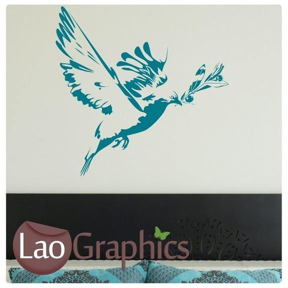 Bird Flying Wall Stickers Home Decor Beautiful Nature Art Decals UK-LaoGraphics