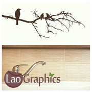 Birds & Tree Branch #7 Decorative Nature Wall Stickers Home Decor Art Decals-LaoGraphics