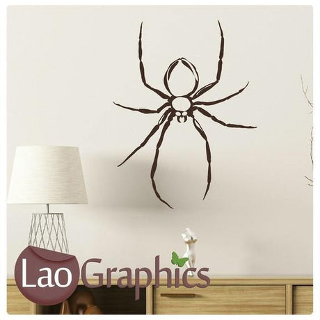 Black Widow Spider Pet Shop Animals Wall Stickers Home Decor Art Decals-LaoGraphics