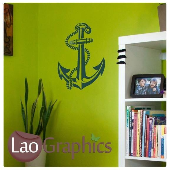 Boat Anchor Sailing Boats & Sailing Wall Stickers Home Decor Art Decals-LaoGraphics