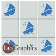 Boats Bathroom Tile Transfers Home Decor Sailing Art Decals Stickers-LaoGraphics