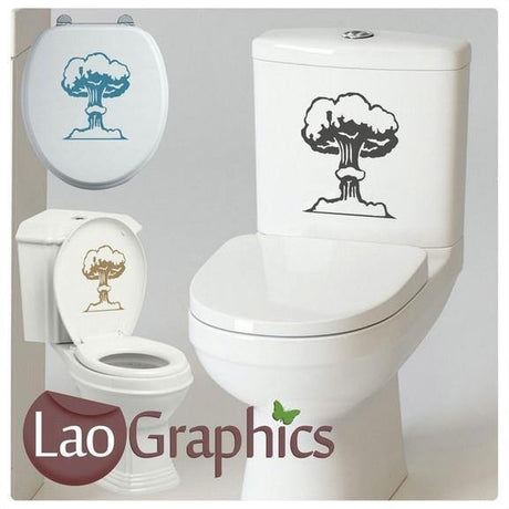 Bomb Bathroom Toilet Stickers Home Decor Funny Art Decals Transfers-LaoGraphics