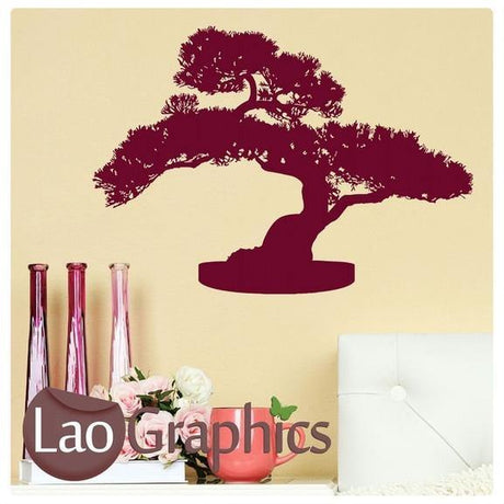 Bonsai Tree Asian Korean Wall Stickers Home Decor Art Decals Transfers-LaoGraphics