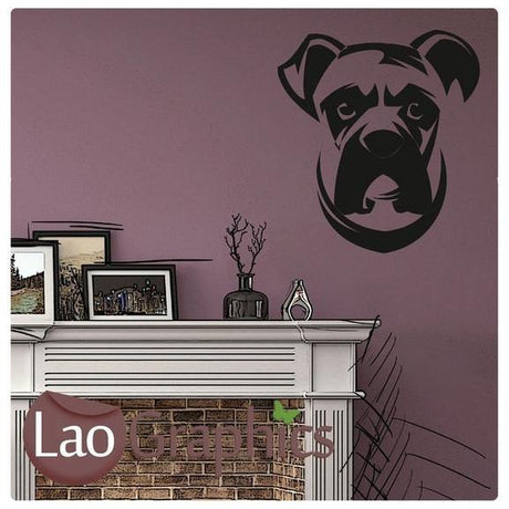 Boxer Dog Canine Puppy Dog Lovers Wall Stickers Home Decor Art Decals-LaoGraphics