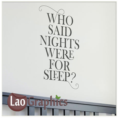 Who said? Home Decor Art Decals