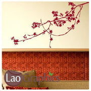 Branch Decorative Nature Wall Stickers Home Decor Art Decals Transfers-LaoGraphics