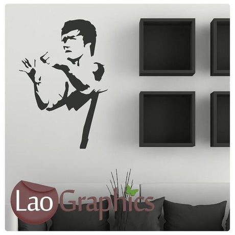 Bruce Lee Celebrity Legend Wall Stickers Home Decor Celeb Art Decals-LaoGraphics