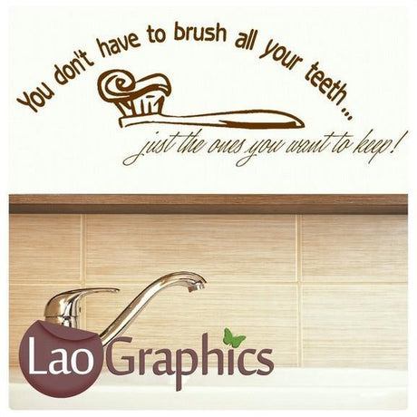 Brush Your Teeth Bathroom Quote Wall Sticker Home Decor Art Decals UK-LaoGraphics