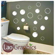 Bubbles Vinyl Transfer Bathroom Quote Wall Stickers Home Decor Decals-LaoGraphics