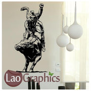 Bull Fighting Vinyl Transfer Wall Stickers Home Decor Art Decals UK-LaoGraphics