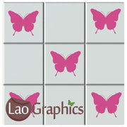Butterflies Kitchen / Bathroom Tile Transfers Home Decor Art Decals UK-LaoGraphics