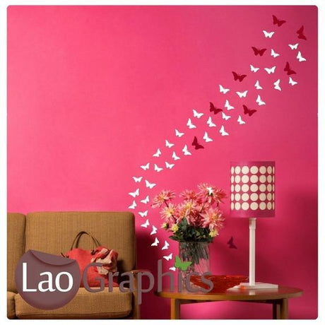 Butterfly Sets 24/16/9 Girls Bedroom Wall Stickers Home Decor Art Decals Part 88