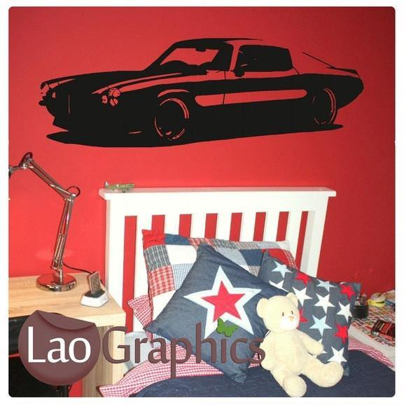 Camaro Car Vehicle Transport Wall Stickers Home Decor Boys Art Decals-LaoGraphics