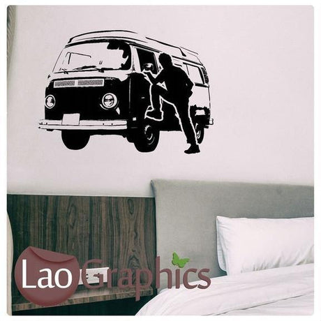 Camper Van Vehicle Transport Wall Stickers Home Decor Car Art Decals-LaoGraphics